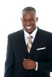 Homem de negócio no terno preto 1 Imagens de Stock Royalty Free