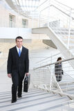 Homem de negócio no trabalho Fotografia de Stock