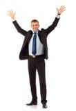 Homem de negócio novo feliz Imagens de Stock