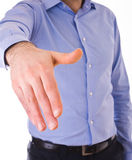Homem de negócio que dá a mão. fotos de stock