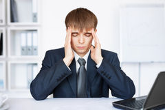 Homem de negócio novo Tired com problemas e esforço Fotos de Stock