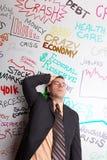 Homem de negócio para fora forçado Imagens de Stock Royalty Free