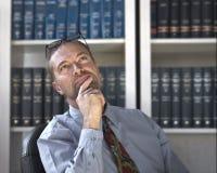 Homem de negócio pensativo Imagem de Stock Royalty Free