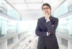 Homem de negócio pensativo foto de stock