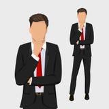 Homem de negócio pensativo Retratos completos do comprimento do homem de negócios Imagem de Stock Royalty Free