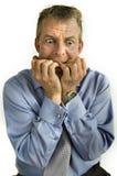 Homem de negócio preocupado Foto de Stock Royalty Free