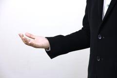 homem de negócio que actua suas mãos Imagem de Stock Royalty Free