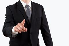Homem de negócio que aponta com seu dedo foto de stock royalty free
