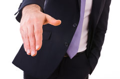 Homem de negócio que dá a mão. imagens de stock