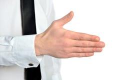 Homem de negócio que dá a mão Fotografia de Stock Royalty Free