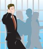 Homem de negócio que fala no móbil Fotos de Stock