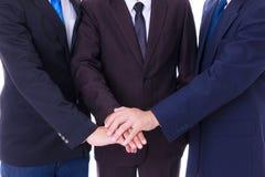 Homem de negócio que guardara a mão imagem de stock royalty free