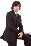 Homem de negócio que levanta no escritório Fotos de Stock Royalty Free