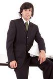 Homem de negócio que levanta no escritório Foto de Stock