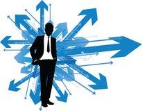 Homem de negócio que maneira Fotografia de Stock
