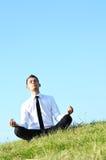 Homem de negócio que relaxa Imagens de Stock
