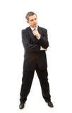 Homem de negócio sério Foto de Stock