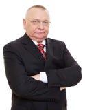 Homem de negócio sênior no terno preto Imagem de Stock Royalty Free