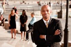 Homem de negócio satisfeito Imagem de Stock