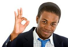 Homem de negócio - sinal aprovado Imagem de Stock