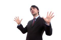 Homem de negócio surpreendido novo Fotografia de Stock Royalty Free