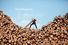 Homem de negócio trabalhador - metáfora Fotos de Stock Royalty Free