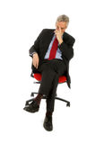 Homem de negócio triste Fotografia de Stock Royalty Free