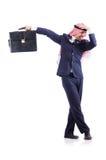 Homem de negócios árabe isolado Foto de Stock