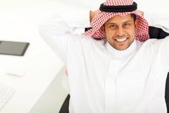 Homem de negócios árabe que relaxa Fotografia de Stock Royalty Free