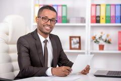Homem de negócios africano Foto de Stock