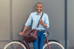 Homem de negócios afro-americano à moda Imagens de Stock