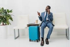 Homem de negócios afro-americano envelhecido meio Fotos de Stock