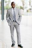 Homem de negócios afro-americano novo fotografia de stock royalty free