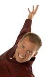 Homem de negócios agressivo Excited Fotografia de Stock Royalty Free