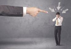 Homem de negócios amador sob a pressão fotos de stock royalty free