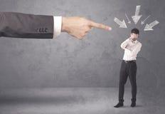 Homem de negócios amador sob a pressão Imagens de Stock