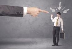 Homem de negócios amador sob a pressão Foto de Stock