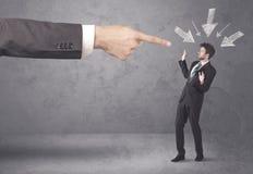 Homem de negócios amador sob a pressão Imagens de Stock Royalty Free