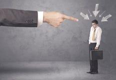 Homem de negócios amador sob a pressão Imagem de Stock