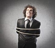 Homem de negócios amarrado Imagem de Stock Royalty Free