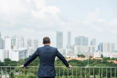 Homem de negócios ambicioso foto de stock