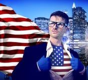 Homem de negócios americano Country Leadership Concept fotos de stock royalty free