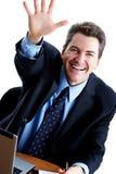 Homem de negócios amigável fotografia de stock