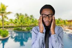 homem de negócios ansioso preocupado foto de stock royalty free