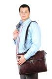 Homem de negócios após o dia do trabalho duro Foto de Stock