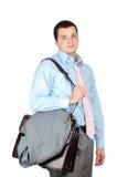 Homem de negócios após o dia do trabalho duro Foto de Stock Royalty Free