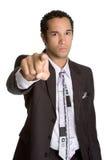 Homem de negócios apontando irritado Foto de Stock Royalty Free