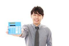 Homem de negócios asiático de sorriso Foto de Stock