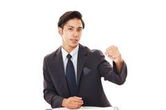 Homem de negócios asiático de sorriso Fotos de Stock