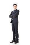 Homem de negócios asiático seguro imagem de stock royalty free
